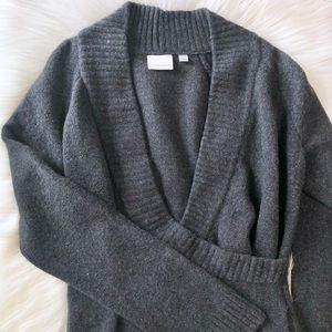 NWT Anthro Ett Twa Charcoal Wrap Sweater Sz XL